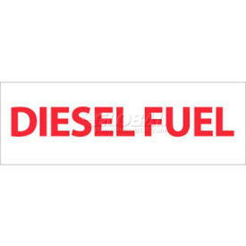 """NMC M47P Safety Sign, Diesel Fuel, 4"""" X 12"""", White/Red by"""