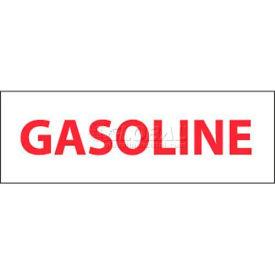 "NMC M51P Safety Sign, Gasoline, 4"" X 12"", White/Red"