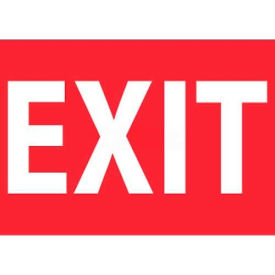"NMC M718RB Fire Sign, Exit, 10"" X 14"", White/Red"