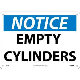"NMC N24RB OSHA Sign, Notice Empty Cylinders, 10"" X 14"", White/Blue/Black"