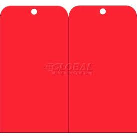 "NMC RPT157 Tags, Blank, 6"" X 3"", Red, 25/Pk"