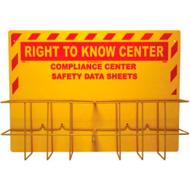 NMC RTK85, Right To Know Information Center, No Binder, 2 Racks & Backboard, Yellow by