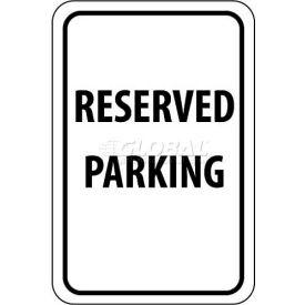 """NMC TM5G Traffic Sign, Reserved Parking, 18"""" X 12"""", White/Black"""