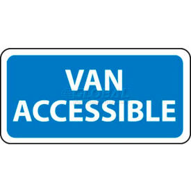 "NMC TMA1H Traffic Sign, Van Accessible, 6"" X 12"", White/Blue"