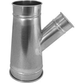 "Nordfab 3220-1010-110000 QF Branch 30 Degree 10-10-10, 10"" Dia, Galvanized Steel"
