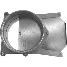 "Nordfab 3240-0700-200000 QF Manual Blast Gate, 7"" Dia, 304 Stainless Steel"