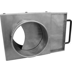 "Nordfab 3241-1200-100000 QF NFMES Blast Gate, 12"" Dia, Galvanized Steel"