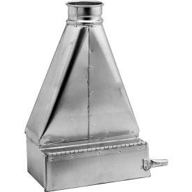 "Nordfab 3248-0600-100000 QF Floor Sweep, 6"" Dia, Galvanized Steel"