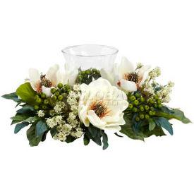 Nearly Natural Magnolia Candelabrum Silk Flower Arrangement by