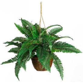 Office decor artificial plants trees flowers nearly natural nearly natural boston fern silk hanging basket mightylinksfo