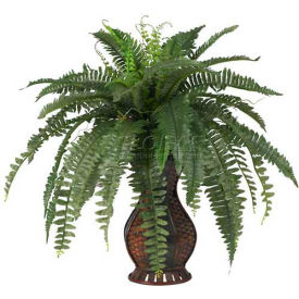 Nearly Natural Boston Fern with Urn Silk Plant