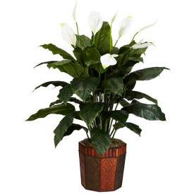 Nearly Natural Spathyfillum with Vase Silk Plant