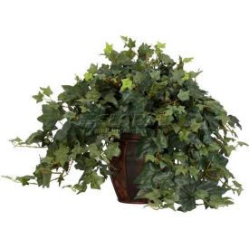 Nearly Natural Puff Ivy with Decorative Vase Silk Plant