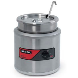 7 Quart Round Warmer With Inset, Cover & Ladel Export