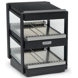"Nemco 6480-18S-B Slanted, Dual Shelf, 18"" Powder Coat Black by"