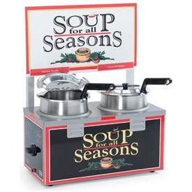 NEMCO® 6510A-2D4P, Soup Merchandiser, Double 4 Qt Well, Without Header, 120 Volt