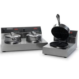 Dual Waffle Baker With Silverstone - 120 Volt