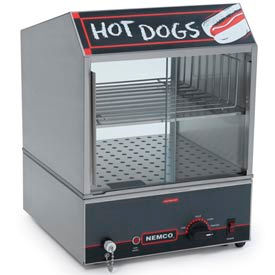NEMCO® 8300-220, Hot Dog Steamer w/Low Water Level Indicator Light, 150 Hot Dogs/30 Buns 220V