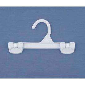 "NAHANCO 1681/8W Skirt/Slack Hanger-Pinch Grip W/Plastic Hook, 8""L, Plastic-WH, Pkg Qty 200"
