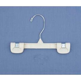 """NAHANCO 1686-8 Skirt/Slack Hanger-Snap Grip W/Swivel Hook, 8""""L, Plastic-WH, Pkg Qty 200"""