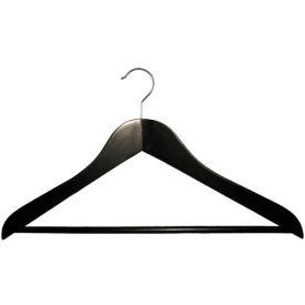 """NAHANCO 2007-15B Suit Hanger-Executive Series, 17""""L, Wood-BK, Pkg Qty 50"""