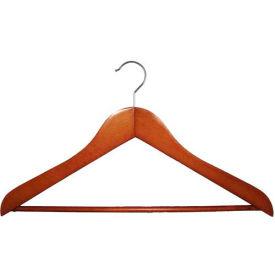 """NAHANCO 2007-15C Suit Hanger-Executive Series, 17""""L, Wood-CY, Pkg Qty 50"""