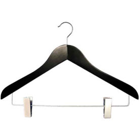 "NAHANCO 2007-16B Coordinate Hanger-Executive Series, 17""L, Wood-BK, Pkg Qty 50"
