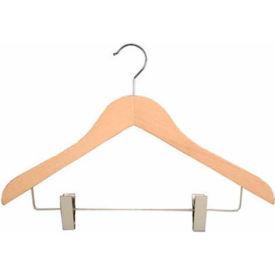 "NAHANCO 2007-16N Coordinate Hanger-Executive Series, 17""L, Wood-Natural, Pkg Qty 50"