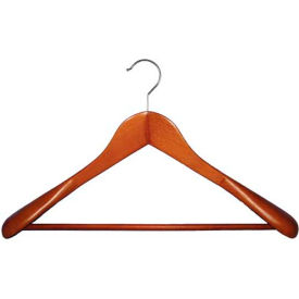 """NAHANCO 2007-18C Suit Hanger-Executive Flare, 17""""L, Wood-CY, Pkg Qty 25"""