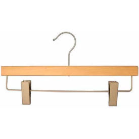"NAHANCO 21014RCHU Pant Hanger, 14""L x 1/2""W, Wood-Natural, Pkg Qty 25"