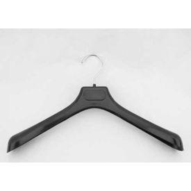 """NAHANCO 2263 Jacket Hanger-Concave Wide Shouldered, 16-1/2""""L, Plastic-BK, Pkg Qty 50"""