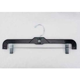 "NAHANCO 2600RC Skirt/Slack Hanger-Heavy Weight, 14""L x 1/2""W, Plastic-BK, Pkg Qty 100"