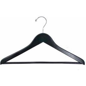 """NAHANCO 8217CH Suit Hanger-Flat, 17""""L, Wood-BK, Pkg Qty 100"""