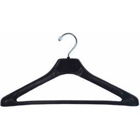 """NAHANCO H90 Suit Hanger-Conacave Extra Wide Shouldered, 19""""L, Plastic-BK, Pkg Qty 50"""