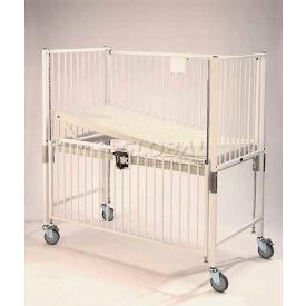 "NK Medical Child Standard Crib C1981CG, 30""W x 60""L x 61""H, Gatch Deck, Chrome"
