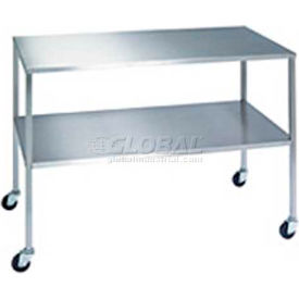 NK Medical IT-201634-BS Stainless Steel Table with Bottom Shelf 20x16x34