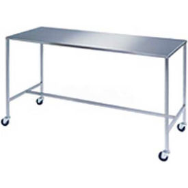 NK Medical IT-602434-HB Stainless Steel Table with H-Brace Shelf 60x24x34