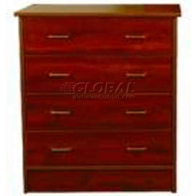 """NK Medical Chest, Monroe, 4 Drawers, 32""""W X 17""""D X 36-3/4""""H, Winchester Walnut"""