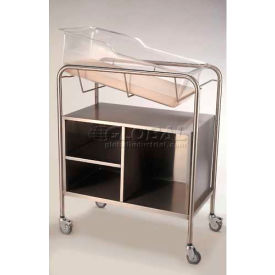 """NK Medical Bassinet with Open Cabinet NB-SSxOC, 31""""L x 17-1/2""""W x 37-3/4""""H, Stainless Steel"""