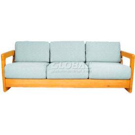 "NK Medical Open Arm Butcher Block Sofa, 72-1/4""W X 30""D X 26""H, Wild Cherry"