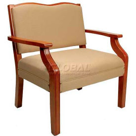 """NK Medical Bariatric Dining Chair, 33""""W X 21""""D X 33""""H, 450 Lbs. Max, Milwork Cherry"""