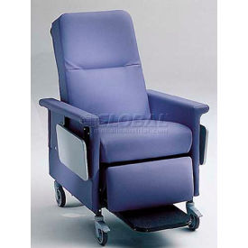 """NK Medical Recliner Chair, 3 Positions, 3"""" Casters, 300 Lbs. Max, Cranberry"""