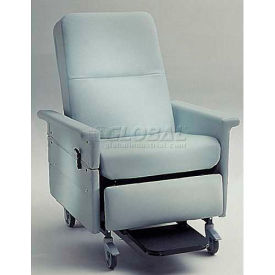 NK Medical Bariatric Medical Recliner, Side Table, Push Bar & Swing Arms, 500 Lbs. Max, Aquamarine
