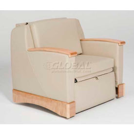 NK Medical Imperial Sleeper Chair, With Padded Arms, Aquamarine