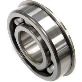 Nachi Radial Ball Bearing 6202NR, Open W/Snap Ring, 15MM Bore, 35MM OD