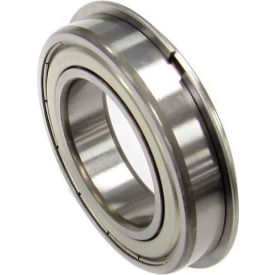 Nachi Radial Ball Bearing 6302zznr, Double Shielded W/Snap Ring, 15mm Bore, 42mm Od - Min Qty 9