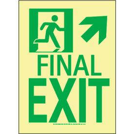 Glow NYC - Directional Exit Sign Up Right