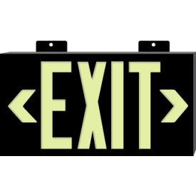 Glo-Brite Exit - Black Double Face w/ Bracket