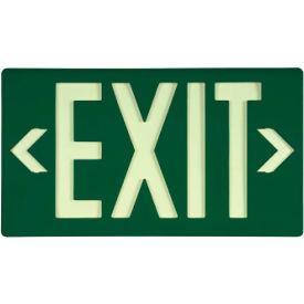 Glo-Brite Exit - Green Single Face