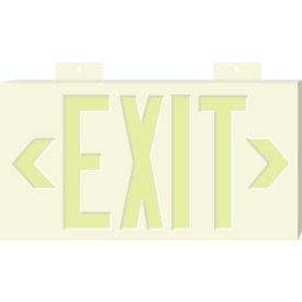 Glo-Brite Exit - White Single Face w/ Bracket